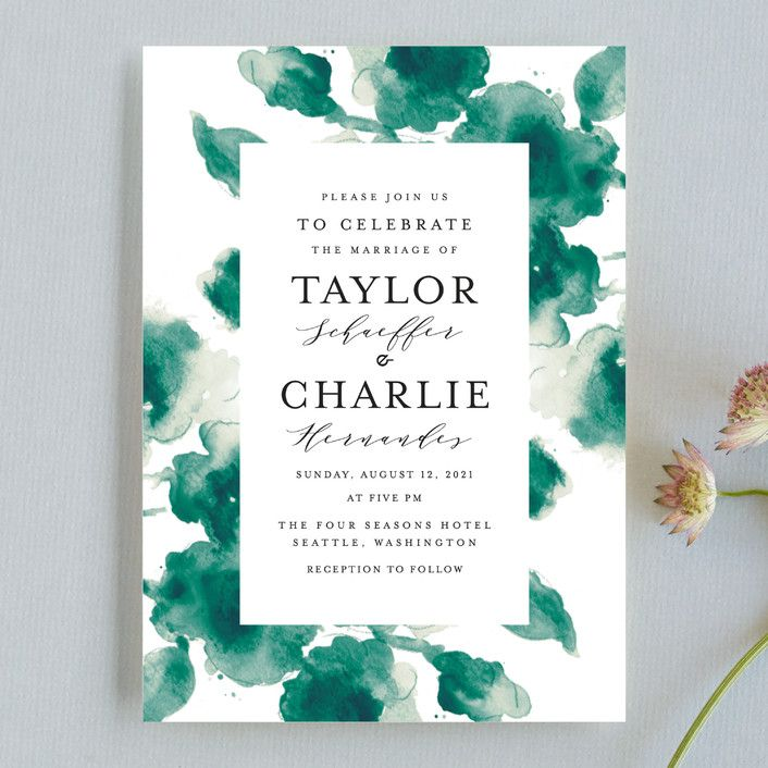 """Cornflower Wedding"" - Wedding Invitations in Periwinkle by Chris Griffith."