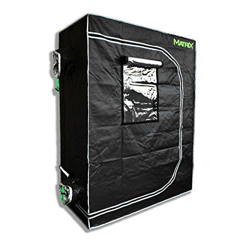 """Matrix Horticulture 48""""x24""""x60"""" Grow Tent Diamond Mylar 600D Hydroponic Growing Room Box for Indoor Plants Observation Window Arch Door D Design 4'x2' 2'x4'"""