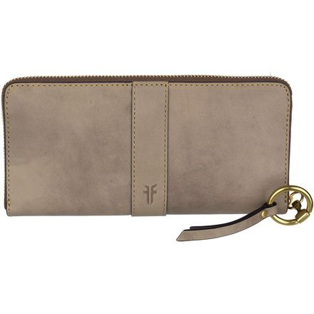 You love classic equestrian-inspired looks that remind you of growing up, so you'll love the Frye Ilana Harness Zip Wallet. This sophisticated continental wallet is made with high quality vegetable-tanned Italian leather and the distinctive signature harness ring hardware on the zipper. Internal coin pouch and multiple sleeves and slots organizes your money, receipts, and to-do lists so you can stay on top of your day.