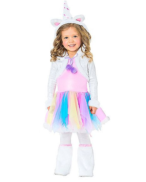 Rainbow Unicorn Toddler Costume - Spirithalloween.com