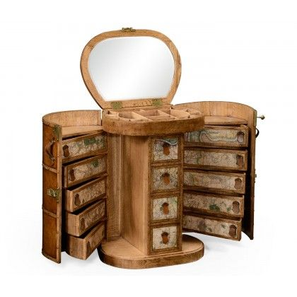 Travel trunk style metamorphic dressing table