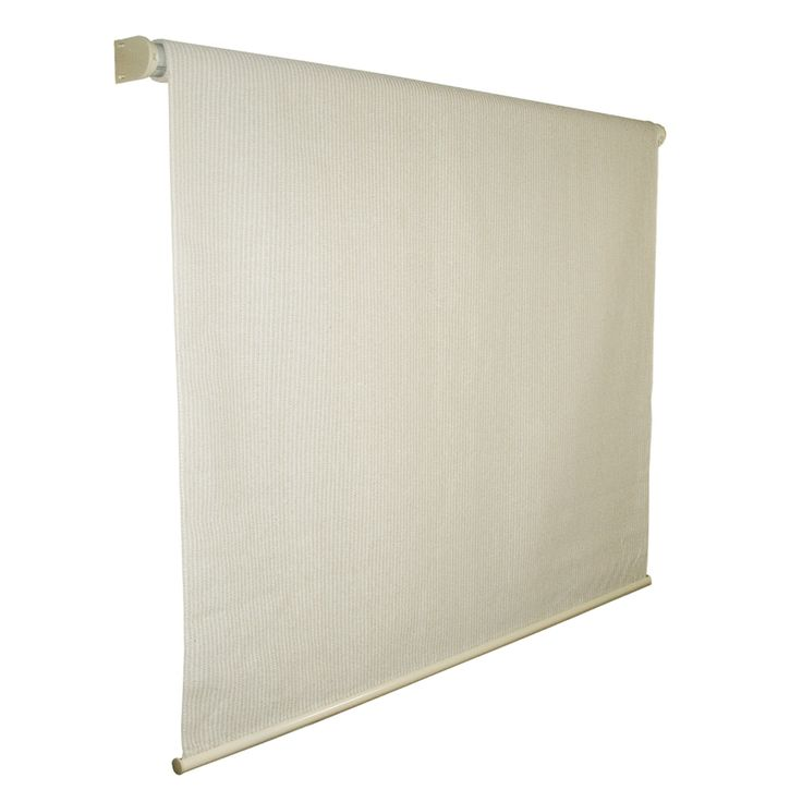 Shop Coolaroo 72-in W x 96-in L Pebble Light Filtering Cordless High-Density Polyethylene Exterior Shade at Lowes.com