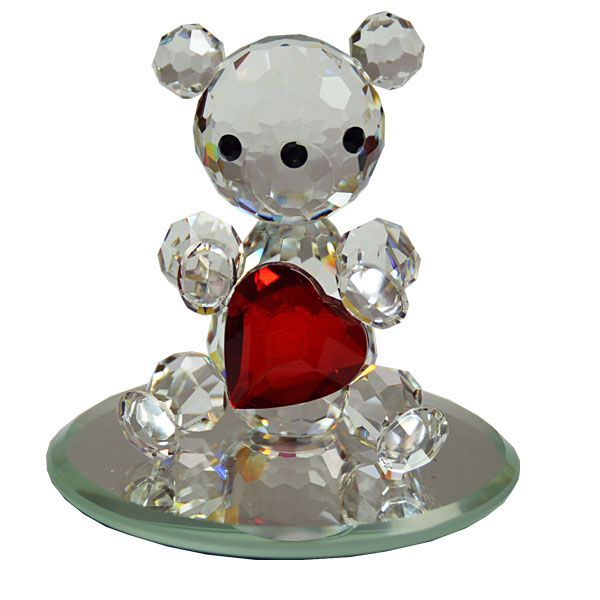 Valentineu0027s Day Gifts | Crystal Bear With Red Heart | Crystal Gifts