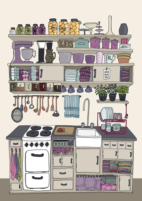 """The kitchen"" - drawn by Kristine Agøy Sand"