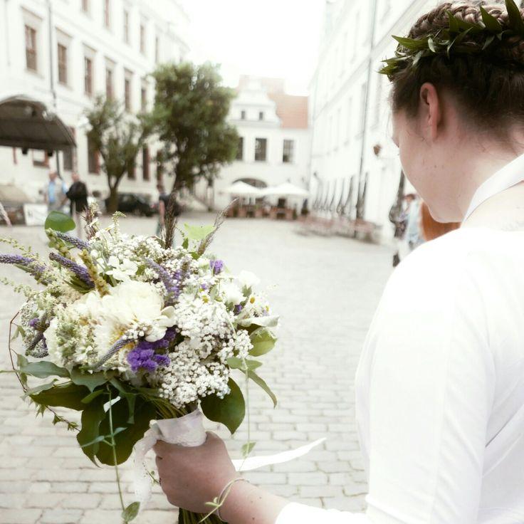Bridal wild, field flowers.