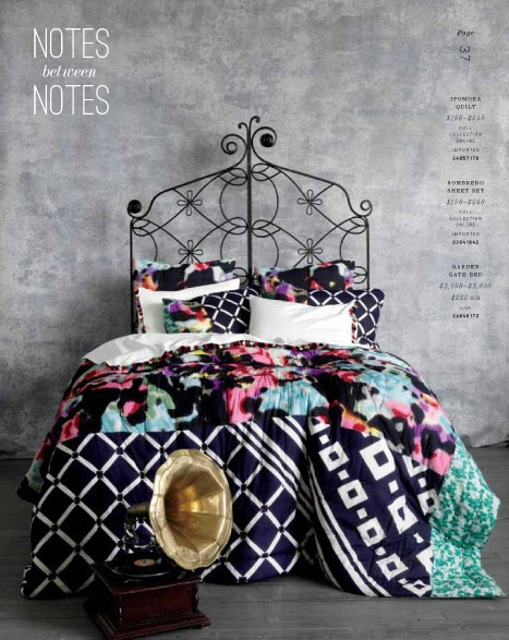 Love this colorful bed from Anthropologie