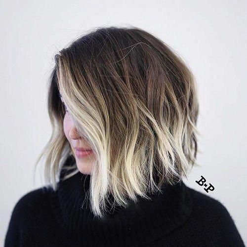 19-brown-to-blonde-ombre-short-hair Beautiful Brown to Blonde Ombre Short Hair #shorthairbalayage