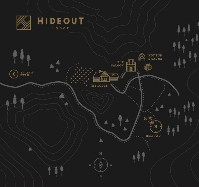 Hideout Lodge Map