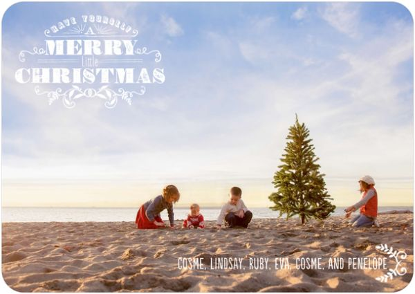 christmas beach family photos
