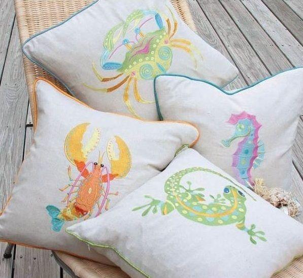 Gecko Feather Pillow | Home Decor
