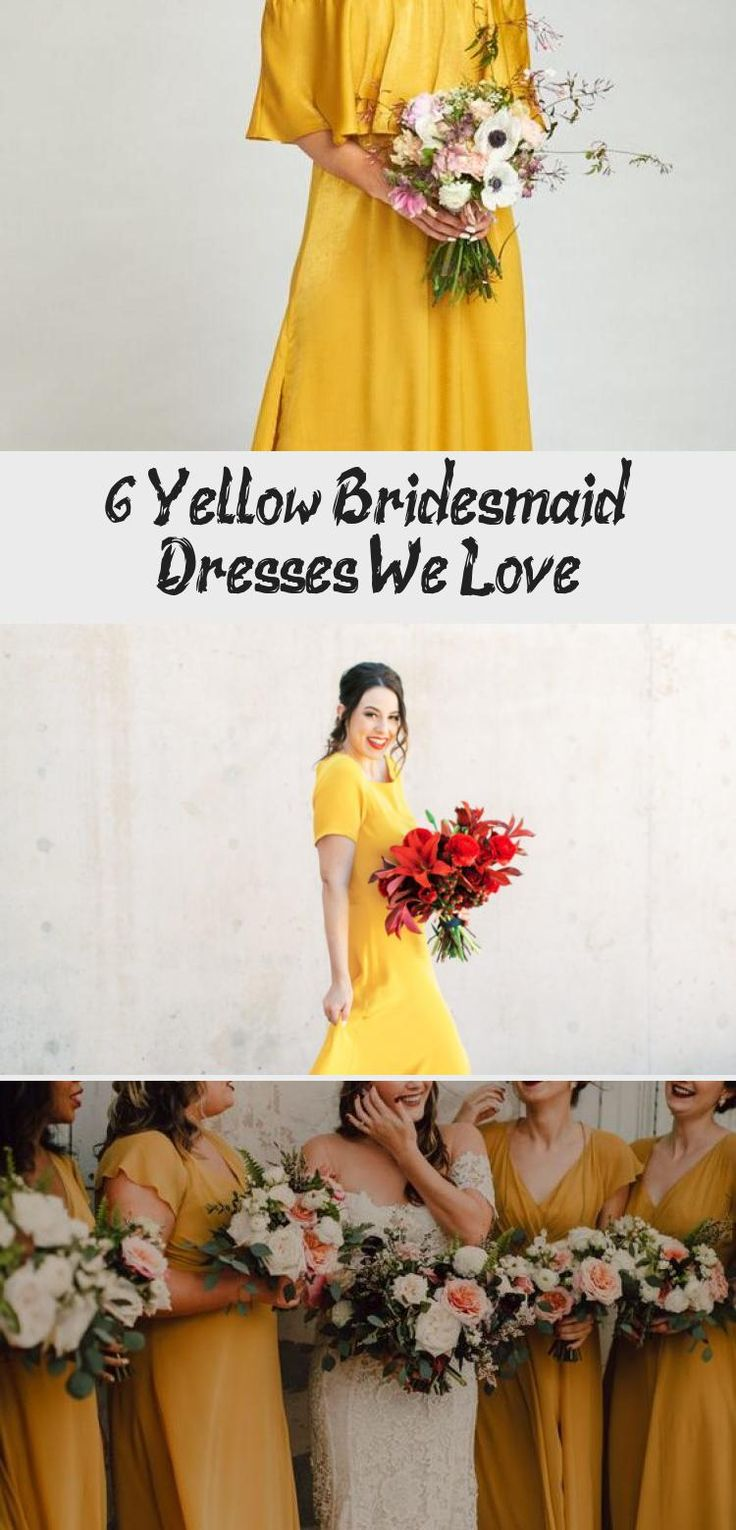 6 Yellow Bridesmaid Dresses We Love - Tremaine Ranch #ChampagneBridesmaidDresses #BridesmaidDressesBlue #BurgundyBridesmaidDresses #GoldBridesmaidDresses #BridesmaidDressesDustyRose