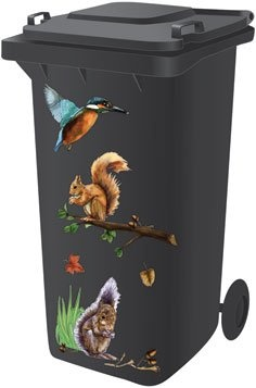 wheelie bin stickers 'squirrel' Reviews - http://www.cheaptohome.co.uk/wheelie-bin-stickers-squirrel-reviews/