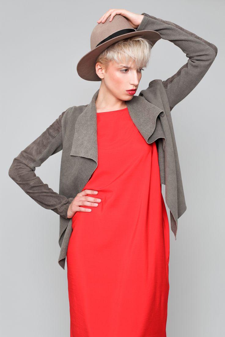 hat hathat.pl Czerwona sukienka FULLOFSTYLE.PL