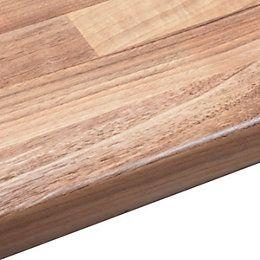View 38mm B&Q Oak Woodmix Laminate Round Edge Kitchen Worktop details
