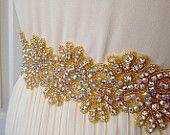 Золото всему бисером Свадебный пояс свадьба свадебный пояс створки свадебное створки кристалл створки свадебное платье драгоценными камнями пояса горный хрусталь горный хрусталь створки