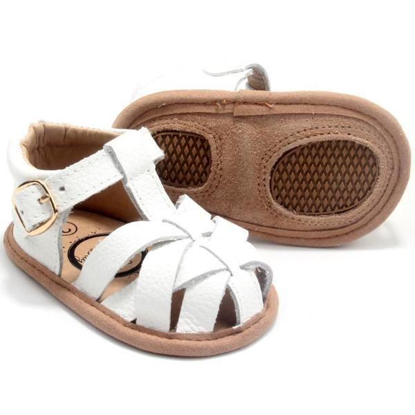 White Closed Toe Sandal | Kid shoes