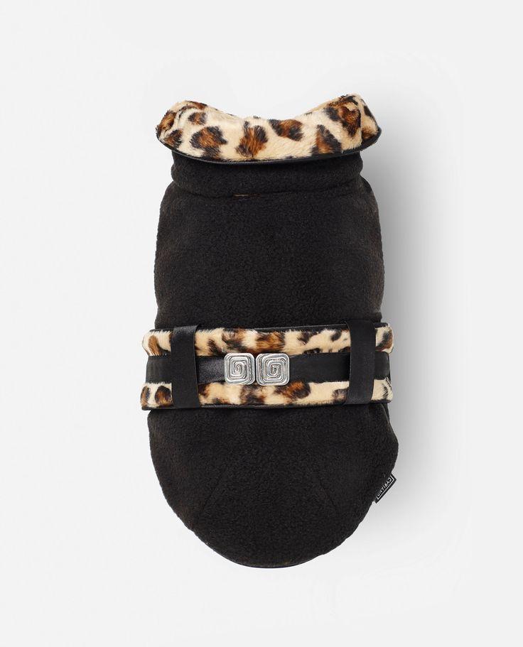 Abrigo Leo - Negro. Un abrigo para perros trend, divertido y con estilo.