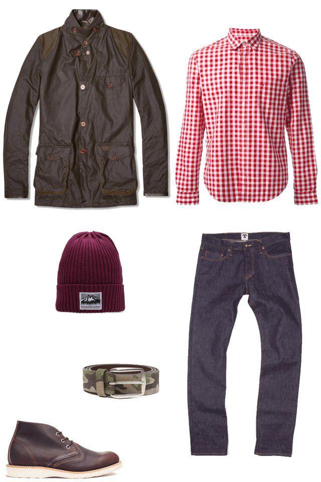 Обувь RED WING SHOES Куртка Barbour Рубашка Burberry Brit Джинсы Tellason Шапка Mt. Rainier Design Ремень Anderson's   http://appstore.com/app/goodlook
