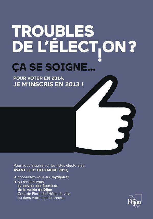 « Troubles de l'élection ? » - Ville de Dijon - Octobre 2013