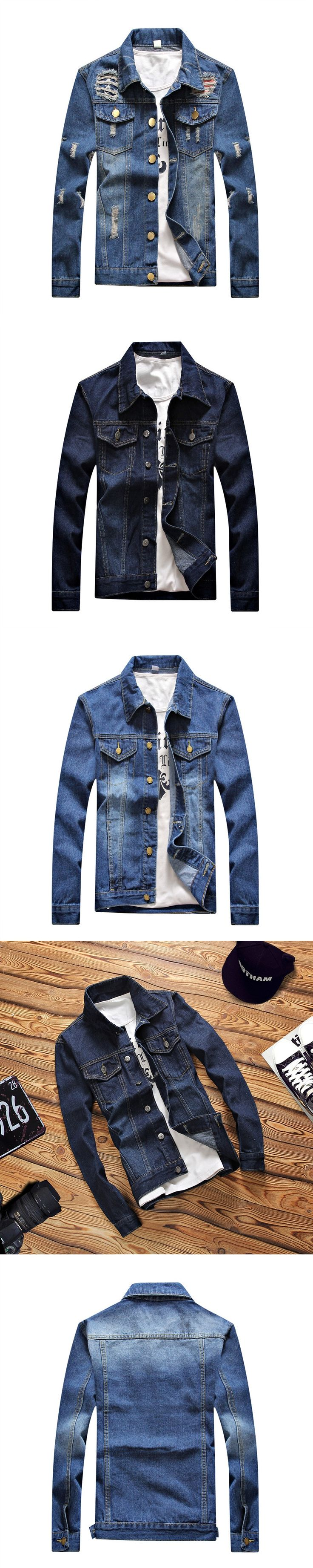 2017 mens denim jacket brand clothing Jeans Jackets for men Bomber Jacket Homme Chaquetas Hombre man Outerwear & Coats BLUE 4XL