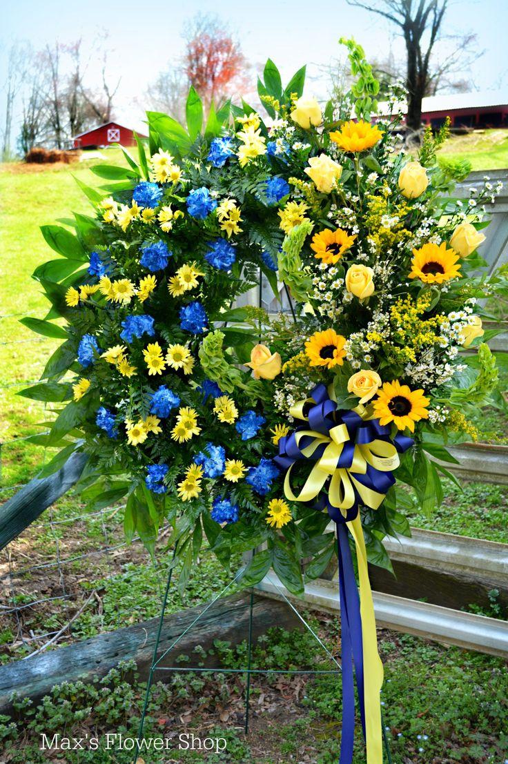 Future Farmers of America Sympathy Wreath designed by Max's Flower Shop.