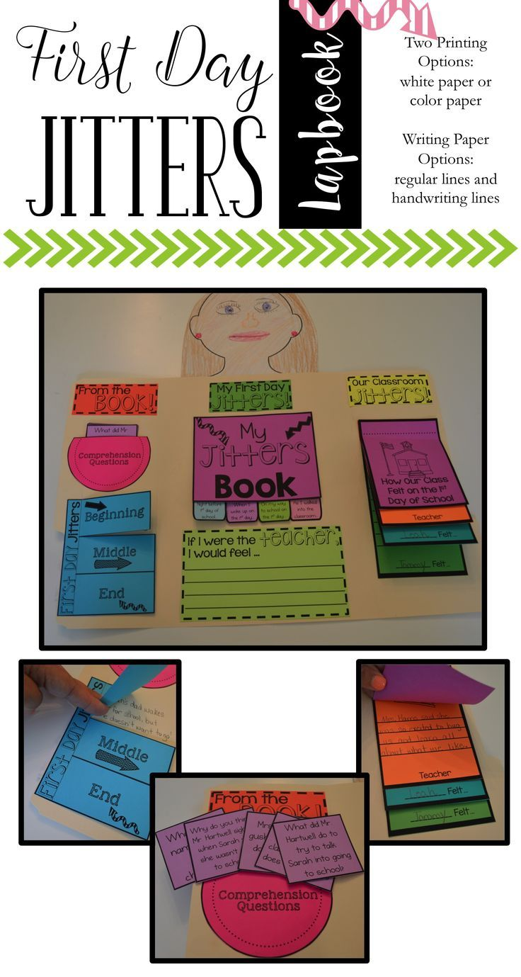 First Day Jitters - First Day Jitters Lapbook Are you looking for a fun and engaging way to get the First Day Jitters out? This First Day Jitters book companion is just what you need to engage your students and enjoy the classic first day of school book t