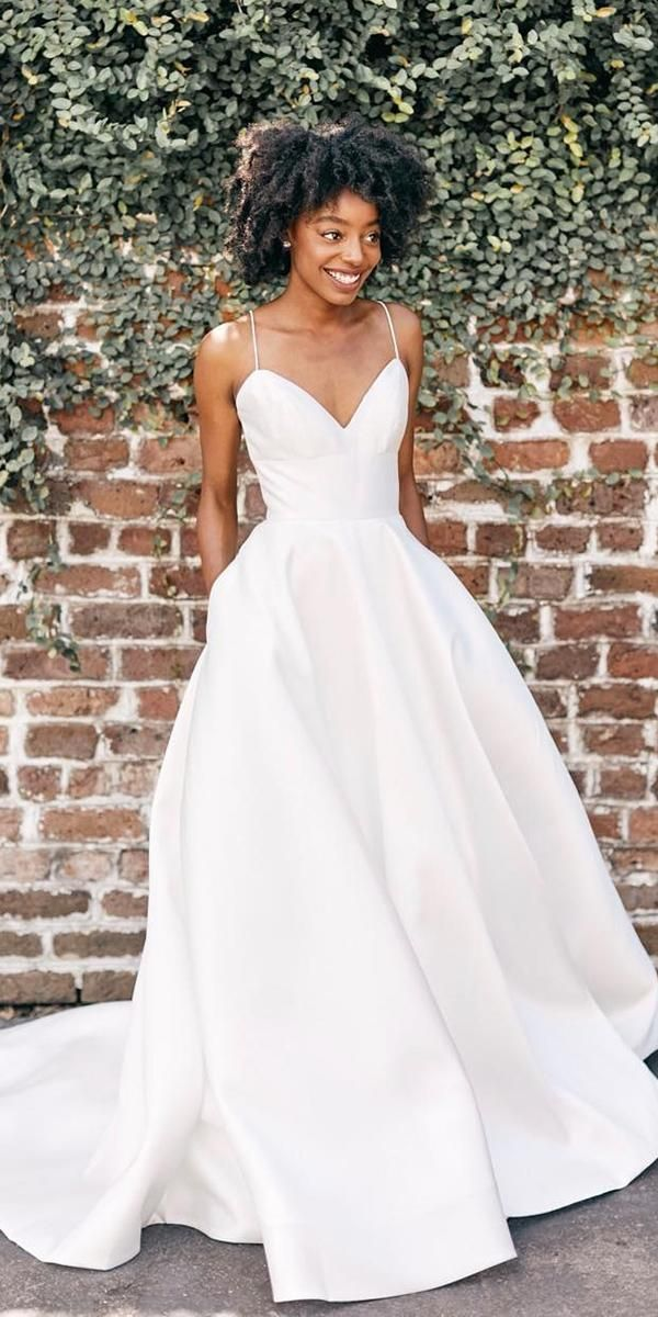 simple wedding dresses a line with spaghetti straps sweetheart louvienne