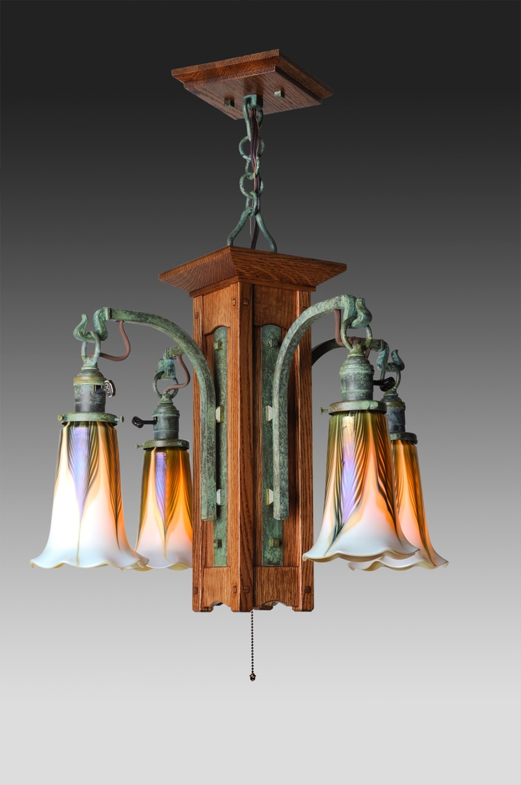 Mission Craftsman Arts And Crafts Style Chandeliers