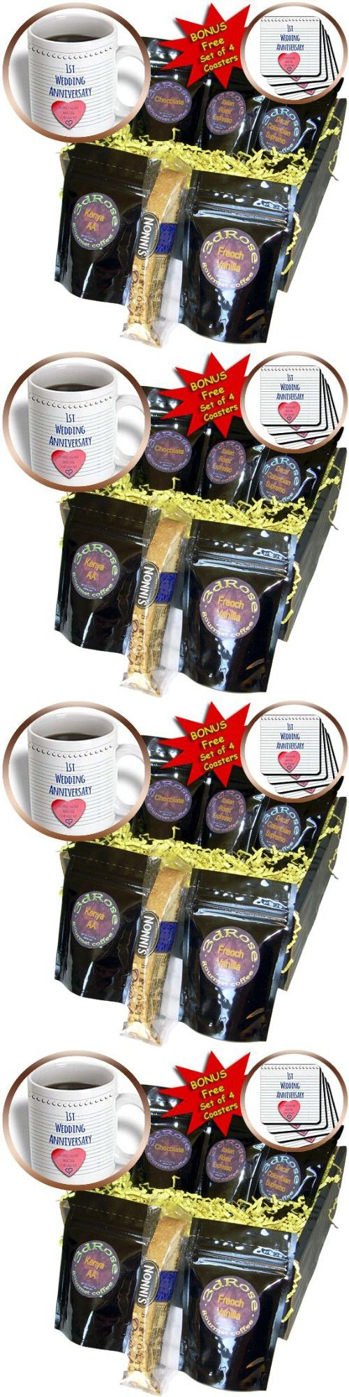InspirationzStore Occasions - 1st Wedding Anniversary gift - Paper celebrating 1 year together - first anniversaries - one yr - Coffee Gift Baskets - Coffee Gift Basket (cgb_154428_1)