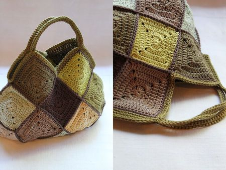I wonder if you could make this look as good if you knit the squares. I would definitely try.