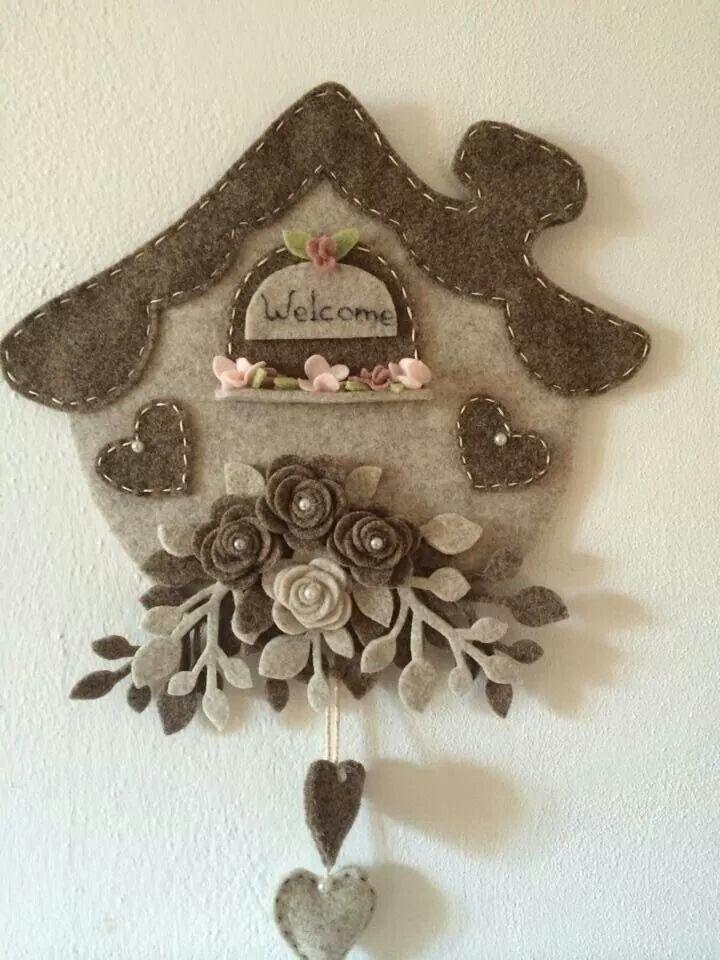 I just adore a felt clock!