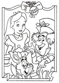 disney coloring pages alice in wonderland coloring page