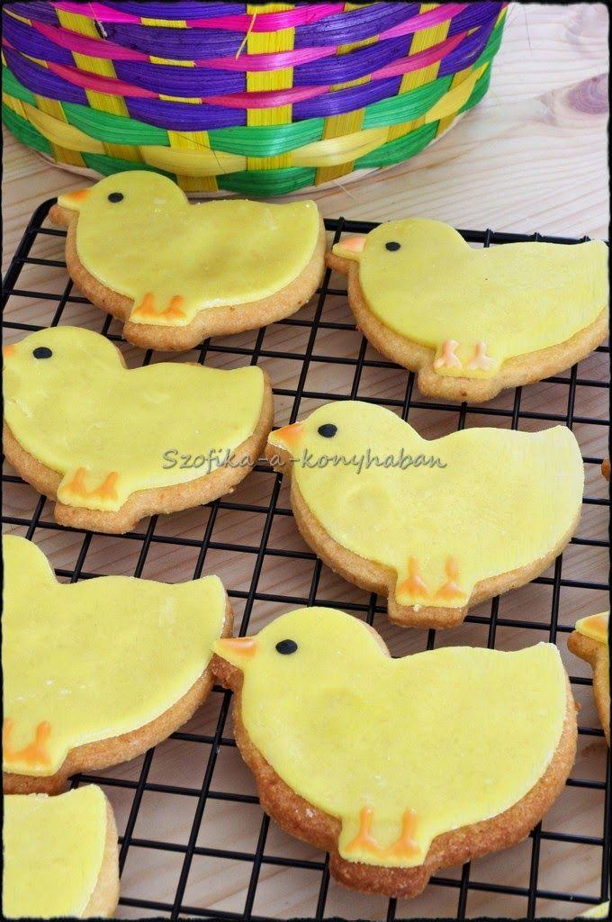 Szofika a konyhában...: Narancsos-mandulás csibék Húsvétra / Easter chick cookies