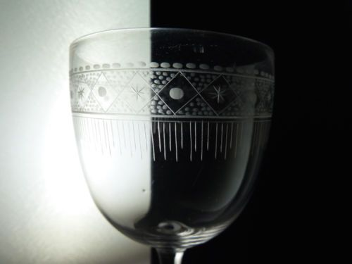 3-Antique-Victorian-Acid-Etched-Crystal-Wine-Glasses-h12-3cm