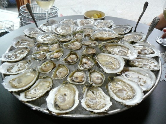 Oysters! Oysters! Oysters!  Think I can just have that for dinner...mmmm. Perhaps with some champagne or even saki