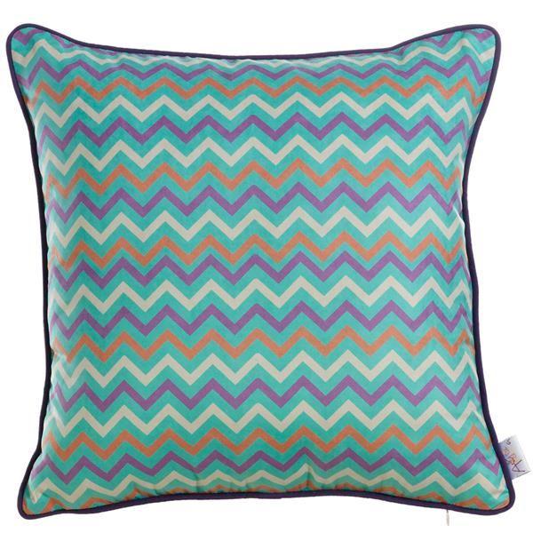 Apolena Mavi Zigzaglar Dekoratif Yastık