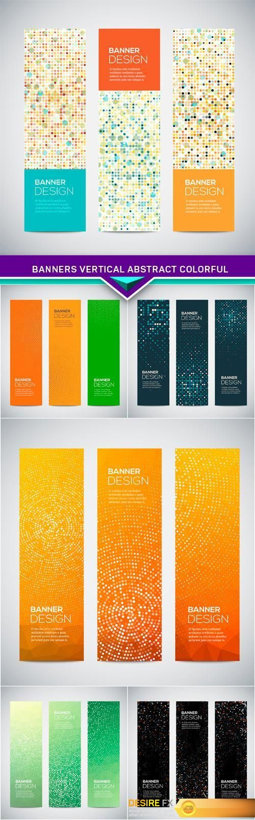 Banners vertical abstract colorful 6X EPS http://www.desirefx.me/banners-vertical-abstract-colorful-6x-eps/