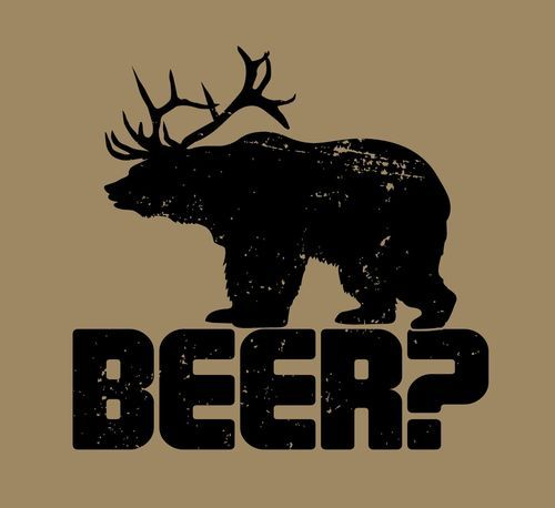 Bear / Deer / Beer tee by Funhouse Shirts....$19 Free Shipping