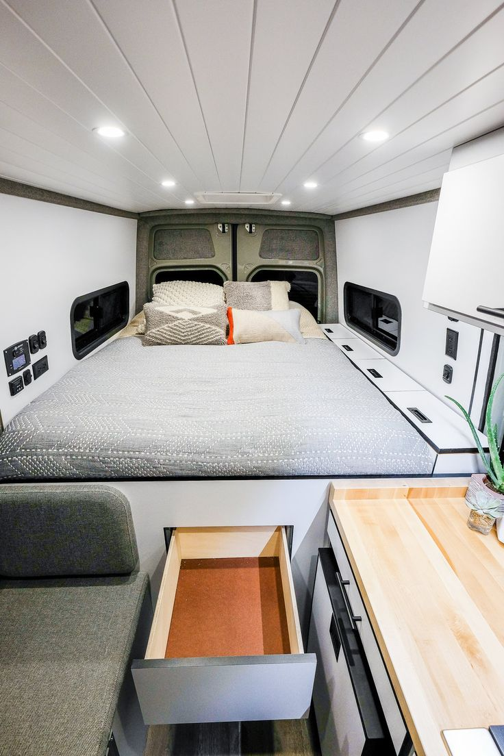 Build A Ford >> Vanlife Customs Sprinter Camper Van Conversion | Sprinter camper, Van bed