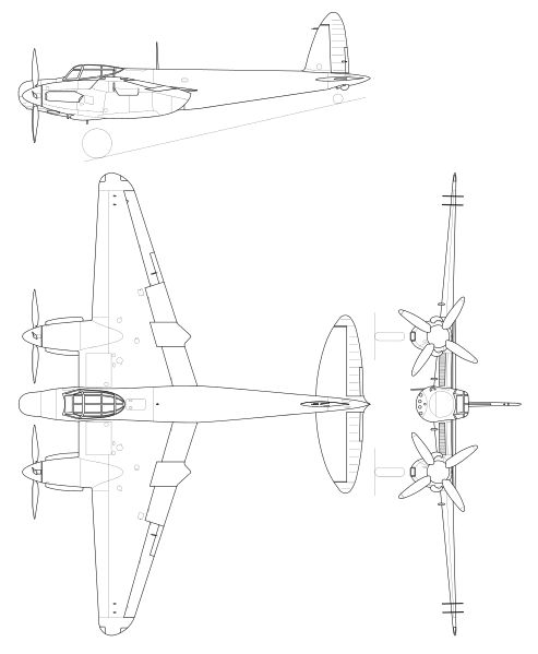 filede havilland mosquito mk19svg plane drawingde