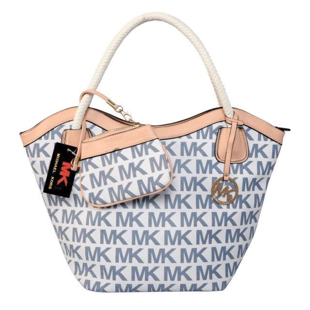 Michael Kors Jet Set Logo Medium Blue Totes Outlet