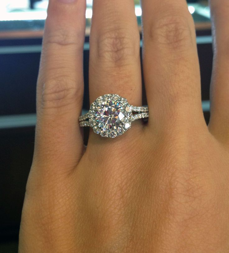 Verragio Halo engagement ring in white gold