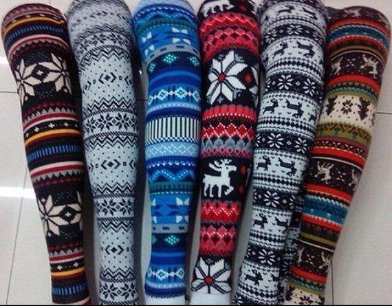 Winter leggings by KaitlynMichelle23 on Etsy