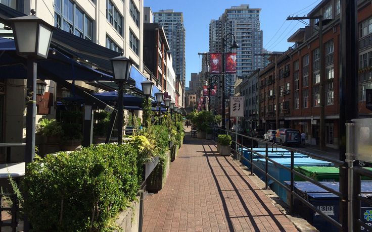 Eat, drink and shop until your heart's content in Yaletown, Vancouver.