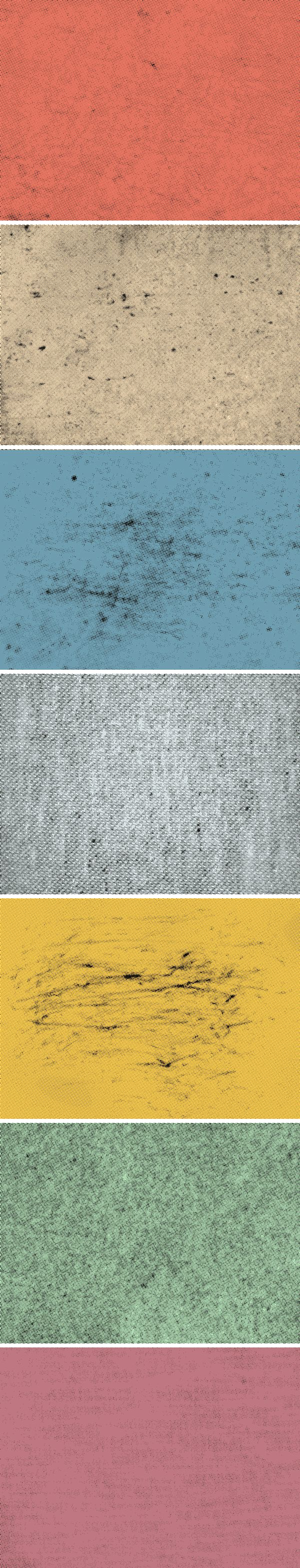 7 Halftone Textures | GraphicBurger