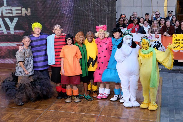 Pin for Later: The Celebrity Halloween Costumes of 2015 The Hosts of Today as the Peanuts Gang