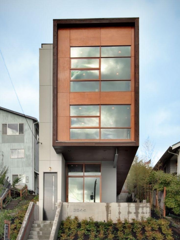 Mount Baker Residence By PB Elemental Narrow HouseDowntown