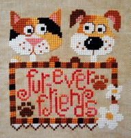 Fur-ever Friends Counted Cross Stitch chart by Barbara Ana Designs