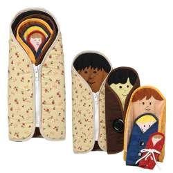 Muñecas rusas de tela - abrochues