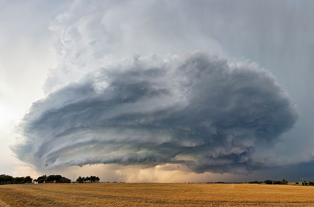 Supercell in Piedmont OK by the urban fabric, via Flickr